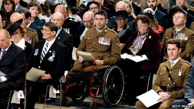 An injured serviceman