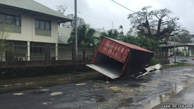 Devastation caused by Cyclone Pam in Vanuatu, 14 March 2015