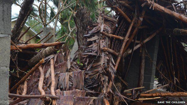 Destruction caused by Cyclone Pam in Vanuatu, 14 March 2015