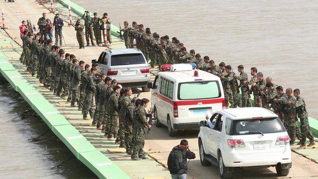 Ambulance taking his body to Erbil