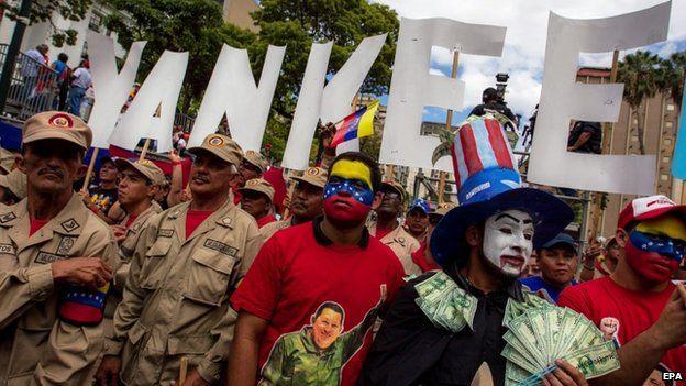 Anti-US demo in Caracas