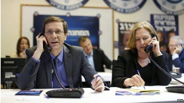 Yitzhak Herzog and Tzipi Livni (15/03/15)