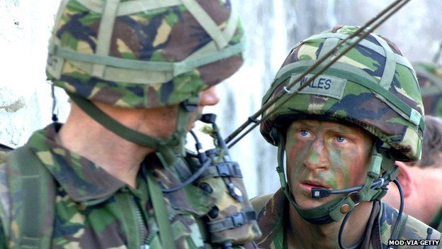 Prince Harry takes part in his final training exercise in 2006