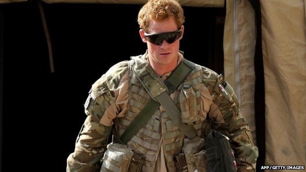 Prince Harry at his second tour of duty in Afghanistan in 2012