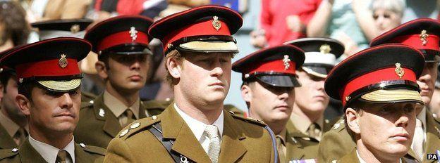 Prince Harry at a memorial parade