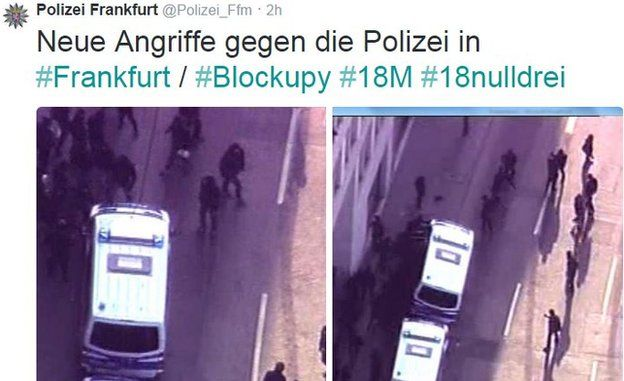 Frankfurt police tweet