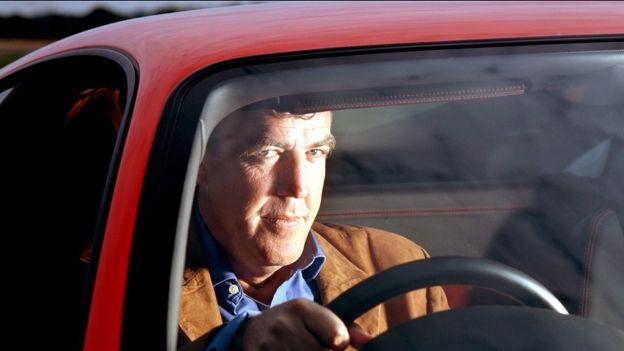 Jeremy Clarkson behind wheel of car