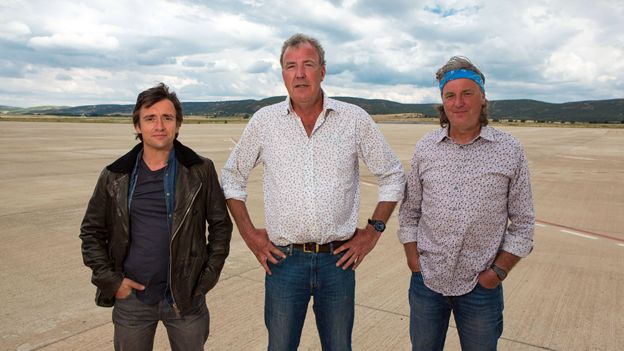Top Gear presenters - Richard Hammond, Clarkson and James May