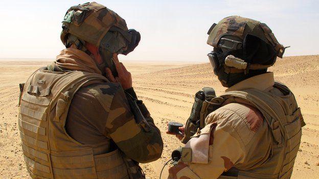 Foreign Legionnaires in the desert outside Madama