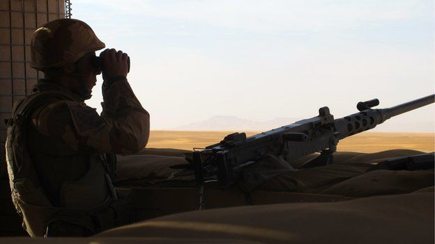 Man looks towards Libya
