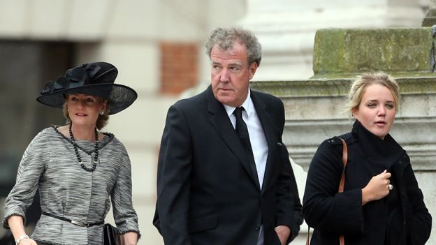 Clarkson at Lady Thatcher's funeral in April 2013