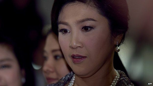 This file photo taken on January 22, 2015 shows ousted Thai prime minister Yingluck Shinawatra looking on after facing impeachment proceedings by the military-stacked National Legislative Assembly (NLA) at the parliament in Bangkok.