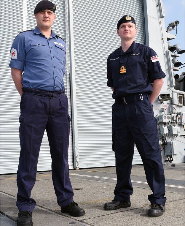 Old and new Navy uniforms