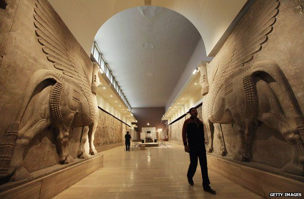 Assyrian winged bulls at Iraq's national museum in Baghdad