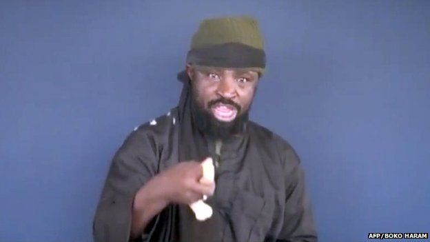 File photo: Screen grab taken on 18 February 2015 from a video made available by Islamist group Boko Haram shows Boko Haram leader Abubakar Shekau making a statement at an undisclosed location