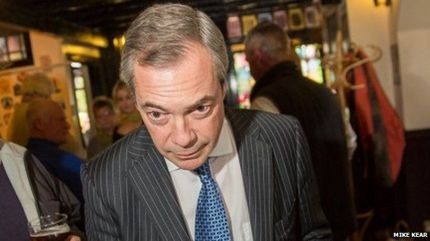 Nigel Farage at the Queen's Head