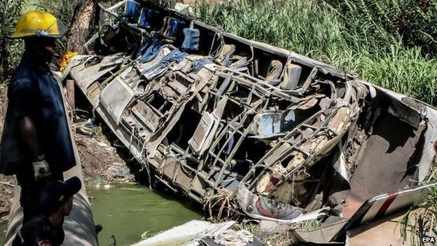Bus crash in Venezuela
