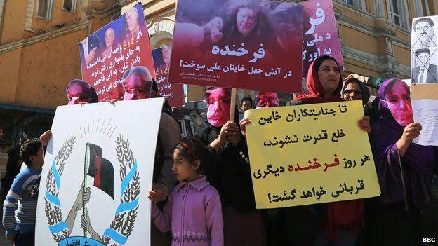 March against the lynching of Farkhunda in Kabul
