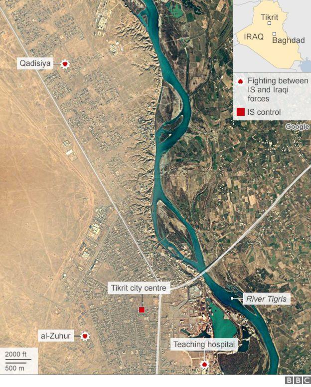 Map of Tikrit
