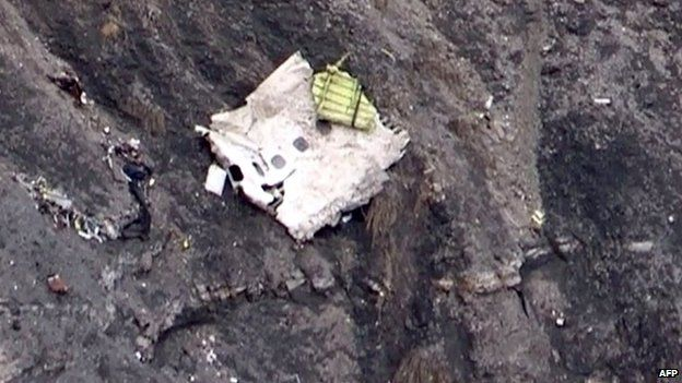 Section of Germanwings aircraft