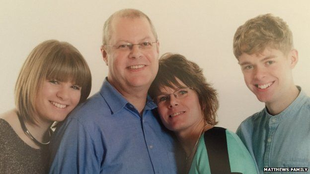 Martyn Matthews and his family