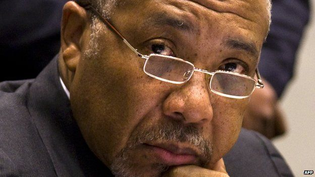 Charles Taylor in court (file photo)