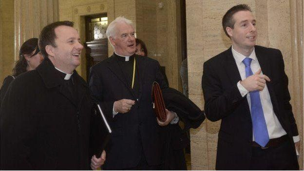 A Catholic delegation met DUP assembly member Paul Givan (right)