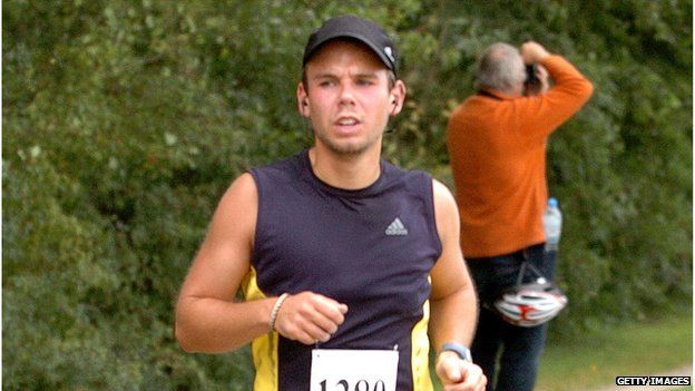 Andreas Lubitz participates in the Airport Hamburg 10-mile race on September 13, 2009 in Hamburg, Germany.