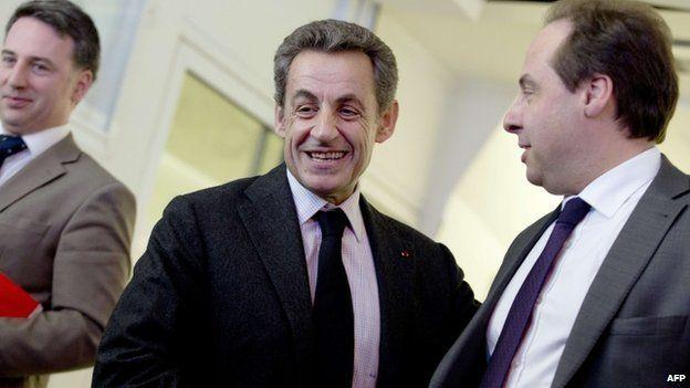 UMP president Nicolas Sarkozy