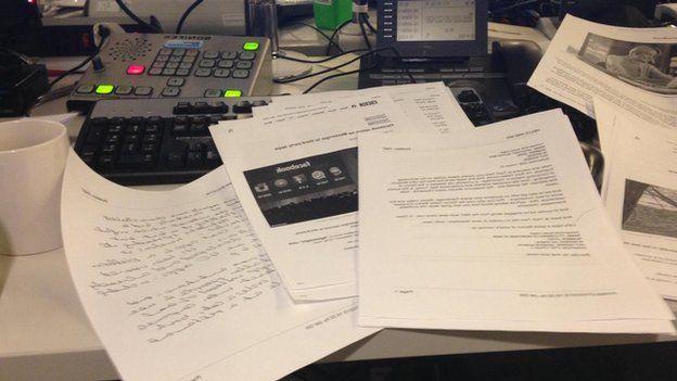 Paper on my desk