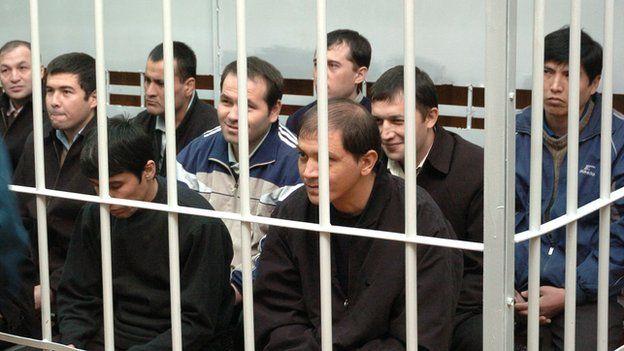 Trial of people suspected of involvement in the 2005 unrest in Uzbek city of Andijan.