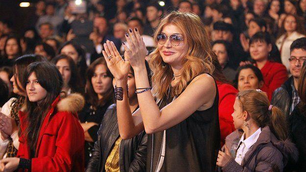 Gulnara Karimova attends a concert by the Russian singer Valeria in the Uzbek capital, Tashkent.