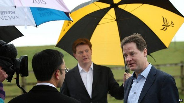 Nick Clegg giving an interview on Friday
