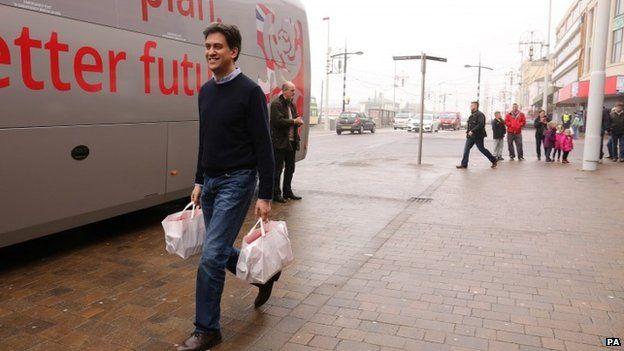 Ed Miliband in Blackpool