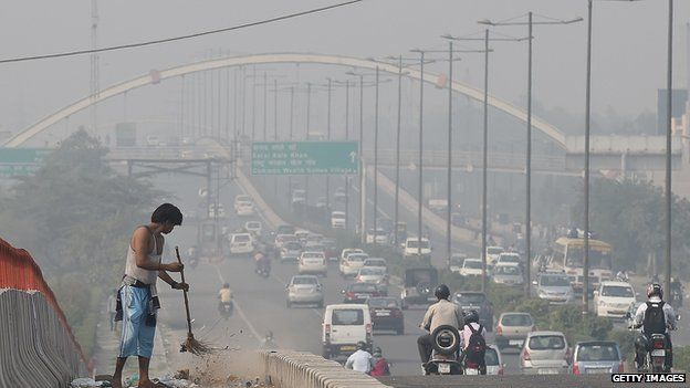 Smog in New Delhi (Nov 2014)