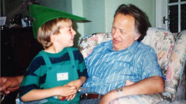 Sam Ogrizovic with grandfather Nick