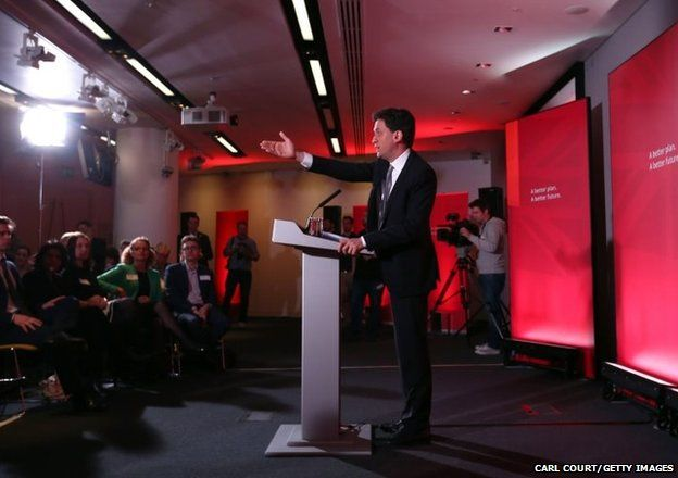 Labour leader Ed Miliband speaks as he launches his party's education manifesto in London