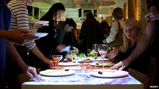 Diners at Inamo