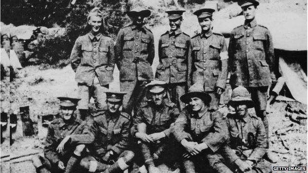 Anzac soldiers from Taranaki, New Zealand, in Gallipoli (1915)