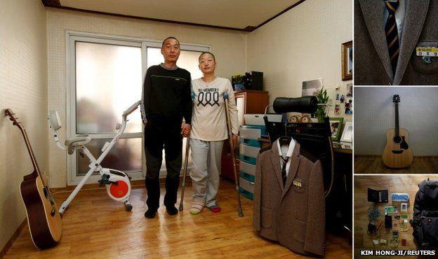 Jung Bu-ja (right) and Shin Chang-sik, parents of Shin Ho-sung