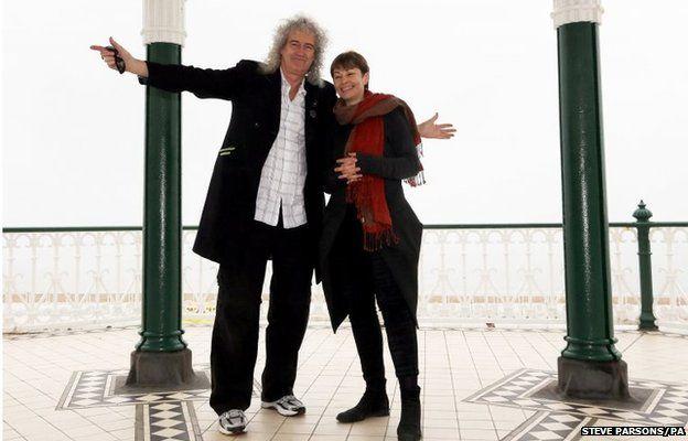Queen guitarist Brian May met Brighton Pavilion parliamentary candidate Caroline Lucas