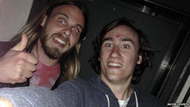 'Selfie' from inside vault
