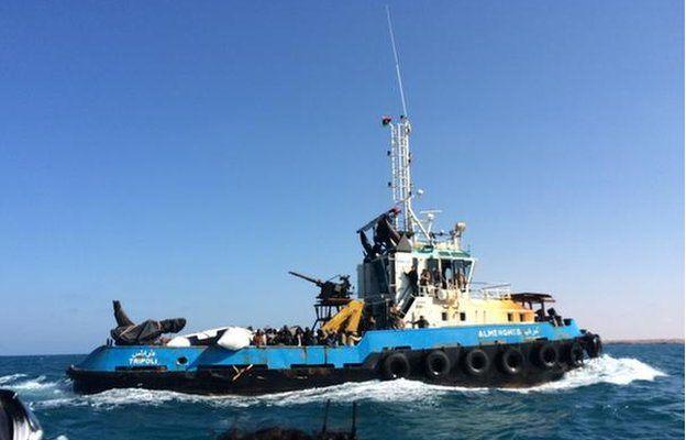The Libya coastguard
