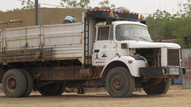 A truck in Mali