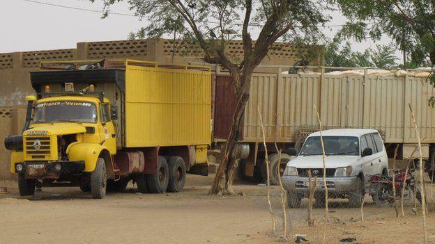 A lorry in Gao, Mali