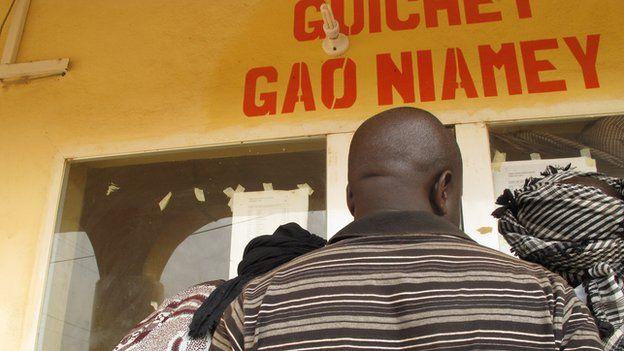 Bus ticket office in Gao, Mali