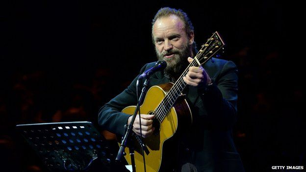 Sting performed two songs at the gala event