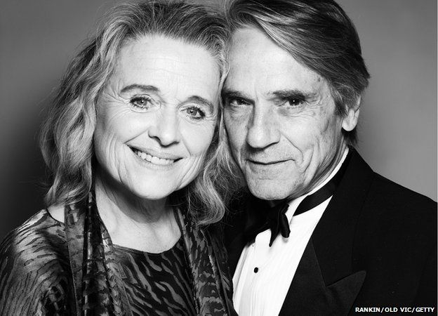 Sinead Cusack and husband Jeremy Irons