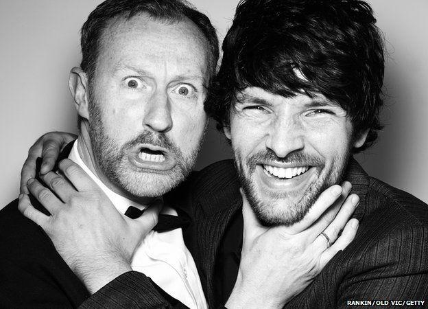 Mark Gatiss and Colin Morgan