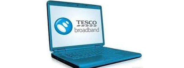 Tesco broadband on a laptop